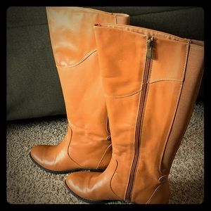 Isaac Mizrahi Live tall shaft leather boots